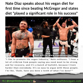 Nate Diaz states vegan diet played significant role in beating Conor McGregor